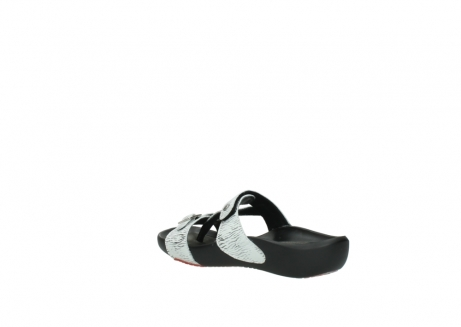 wolky slippers 01000 oconnor 70110 white black canal leather_4