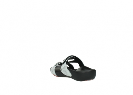 wolky slippers 01000 oconnor 70110 white black canal leather_5