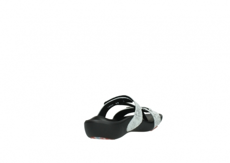 wolky slippers 01000 oconnor 70110 white black canal leather_9