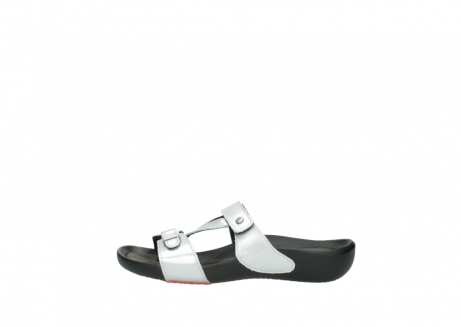wolky slippers 01000 oconnor 80200 grey patent metallic leather_1