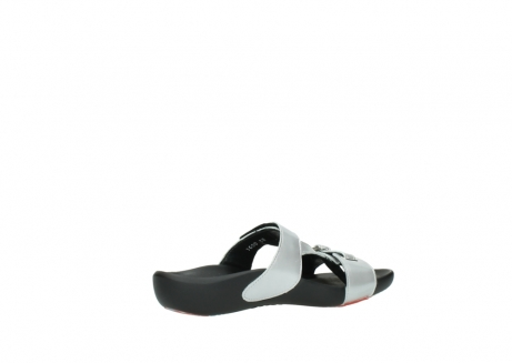 wolky slippers 01000 oconnor 80200 grey patent metallic leather_11