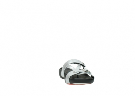 wolky slippers 01000 oconnor 80200 grey patent metallic leather_18