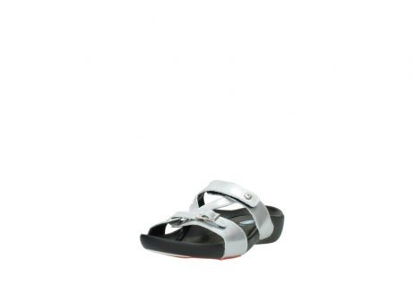 wolky slippers 01000 oconnor 80200 grey patent metallic leather_21