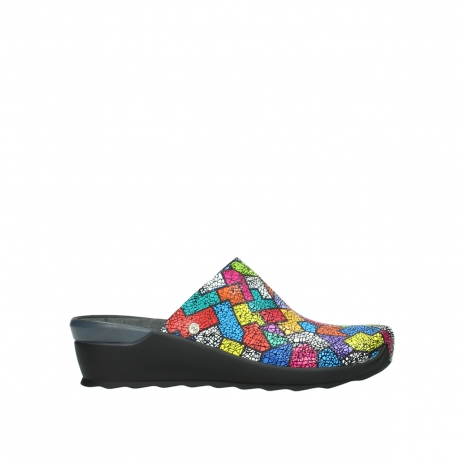 wolky slippers 02575 go 40922 picasso multi suede