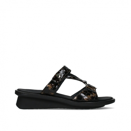 wolky slippers 03307 isa 69320 bronze croco patent leather