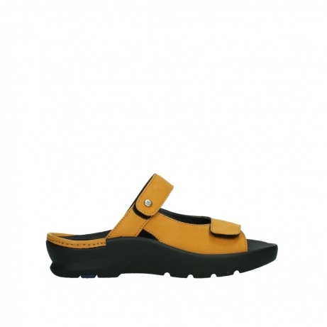 wolky slippers 03926 zaandam 11550 orange yellow nubuck