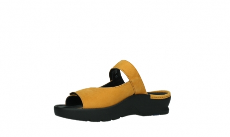 wolky slippers 03926 zaandam 11550 orange yellow nubuck_11