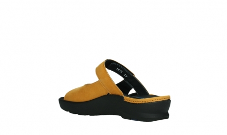 wolky slippers 03926 zaandam 11550 orange yellow nubuck_16