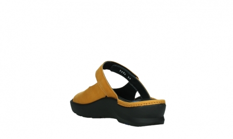 wolky slippers 03926 zaandam 11550 orange yellow nubuck_17