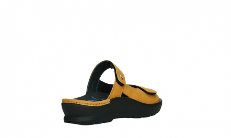 wolky slippers 03926 zaandam 11550 orange yellow nubuck_22