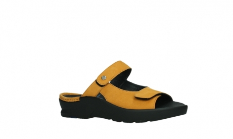 wolky slippers 03926 zaandam 11550 orange yellow nubuck_3