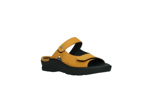 wolky slippers 03926 zaandam 11550 orange yellow nubuck_4