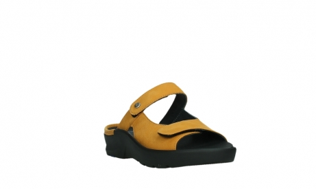 wolky slippers 03926 zaandam 11550 orange yellow nubuck_5