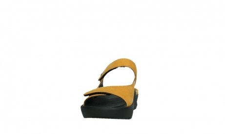 wolky slippers 03926 zaandam 11550 orange yellow nubuck_8