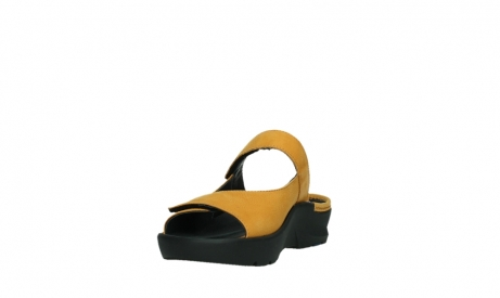 wolky slippers 03926 zaandam 11550 orange yellow nubuck_9