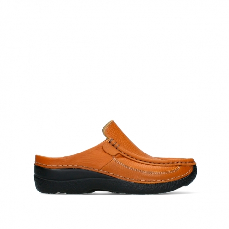 wolky slippers 06202 roll slide 70920 ochre leather