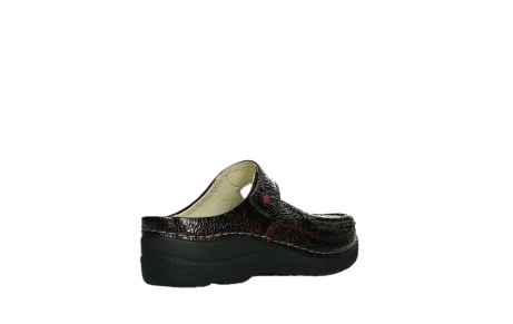 wolky slippers 06227 roll slipper 65510 burgundy red leather_22