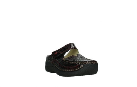wolky slippers 06227 roll slipper 65510 burgundy red leather_5