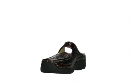 wolky slippers 06227 roll slipper 65510 burgundy red leather_9