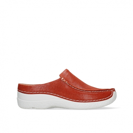 wolky slippers 06250 seamy slide 15555 orange red nubuck