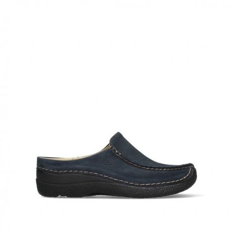 wolky slippers 06250 seamy slide 16800 blue nubuck