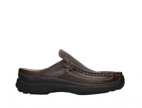 wolky heren slippers 09210 roll slide men 50300 brown leather_1