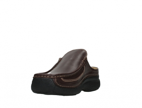 wolky heren slippers 09210 roll slide men 50300 brown leather_9