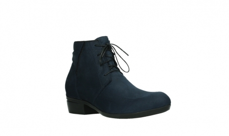 wolky lace up boots 00955 delano 13800 blue nubuckleather_4