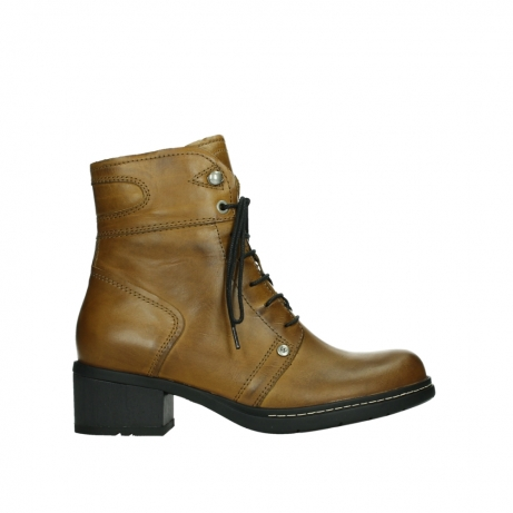 wolky ankle boots 01260 red deer 30925 dark ocher leather