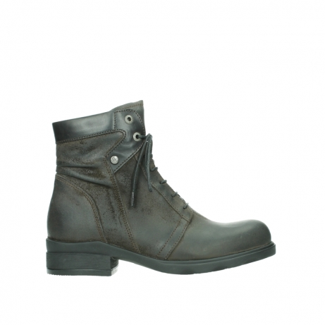 wolky lace up boots 02625 center 45305 dark brown suede