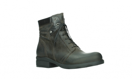 wolky lace up boots 02625 center 45305 dark brown suede_3