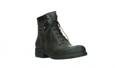 wolky lace up boots 02625 center 45305 dark brown suede_4