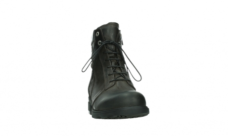 wolky lace up boots 02625 center 45305 dark brown suede_6