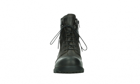 wolky lace up boots 02625 center 45305 dark brown suede_7