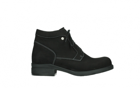 wolky lace up boots 02630 seagram xw 13000 black nubuckleather_1