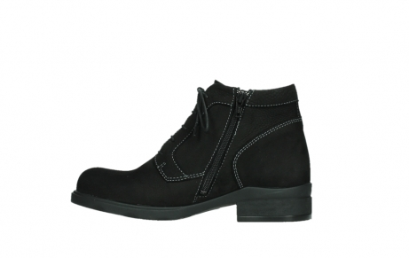 wolky lace up boots 02630 seagram xw 13000 black nubuckleather_13