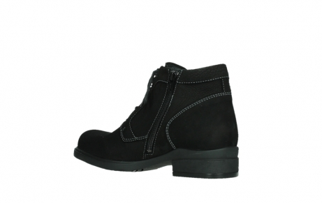 wolky lace up boots 02630 seagram xw 13000 black nubuckleather_15