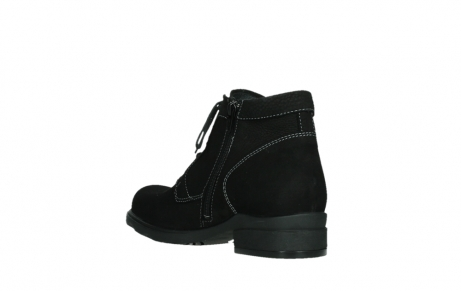 wolky lace up boots 02630 seagram xw 13000 black nubuckleather_16