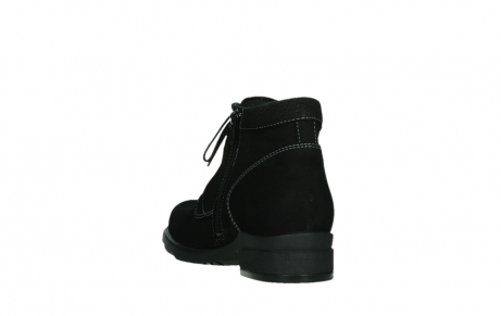 wolky lace up boots 02630 seagram xw 13000 black nubuckleather_17