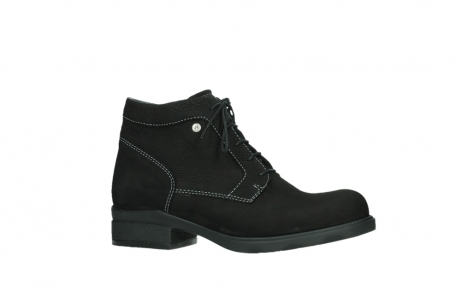 wolky lace up boots 02630 seagram xw 13000 black nubuckleather_2
