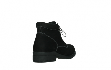wolky lace up boots 02630 seagram xw 13000 black nubuckleather_21