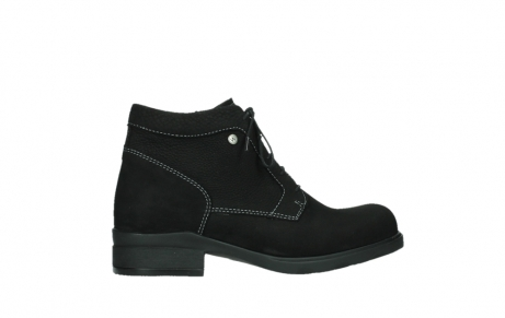 wolky lace up boots 02630 seagram xw 13000 black nubuckleather_24