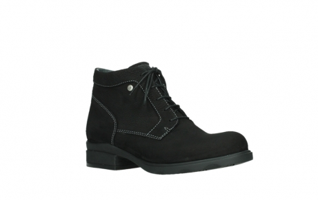 wolky lace up boots 02630 seagram xw 13000 black nubuckleather_3