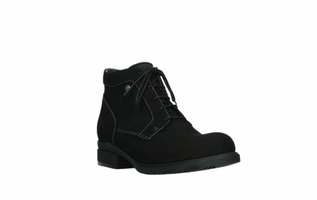 wolky lace up boots 02630 seagram xw 13000 black nubuckleather_4