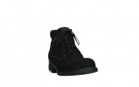wolky lace up boots 02630 seagram xw 13000 black nubuckleather_5