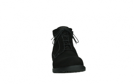 wolky lace up boots 02630 seagram xw 13000 black nubuckleather_6
