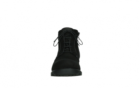 wolky lace up boots 02630 seagram xw 13000 black nubuckleather_7