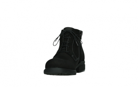 wolky lace up boots 02630 seagram xw 13000 black nubuckleather_8