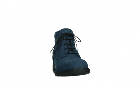 wolky lace up boots 02630 seagram xw 13800 blue nubuckleather_6