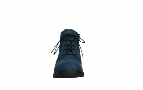 wolky lace up boots 02630 seagram xw 13800 blue nubuckleather_7